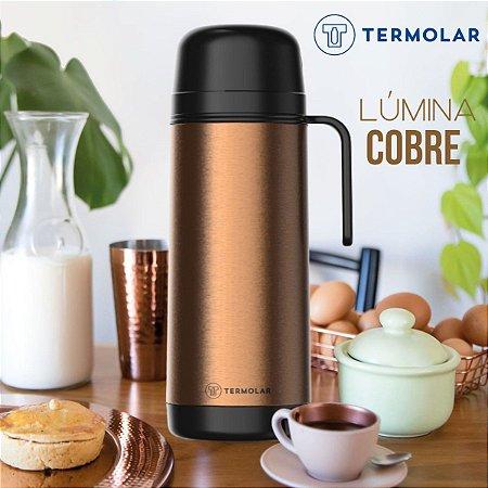 Garrafa Térmica Inox Lúmina Cobre 1L Rolha Clean Café Leite