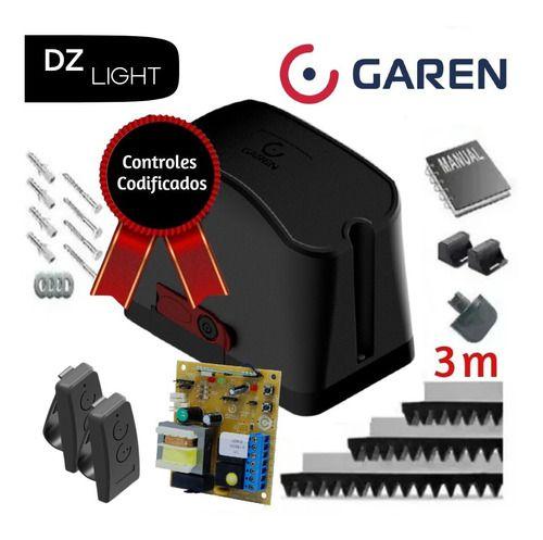 Motor Para Portão Deslizante Dz Casa 1/5 Hp Garen Seg 300 Kg