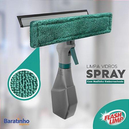 Rodo Limpa Vidros Spray Mop 3 Em 1 C/Reservatório Flash Limp
