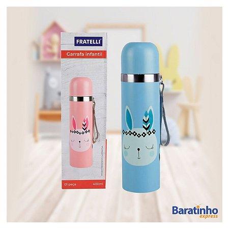 Garrafa Térmica Infantil 360ml Inox Fox Color Fratelli