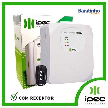 Fonte Carregador Eletrônico Com Timer 2A e Receptor Ipec