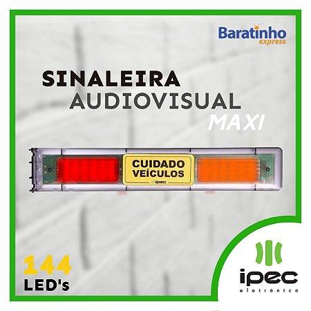 Sinaleira Audiovisual Maxi Bivolt Garagem Sinalizador Ipec