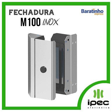 Fechadura Eletroímã M100 Inox P/ Porta Social Pivotante