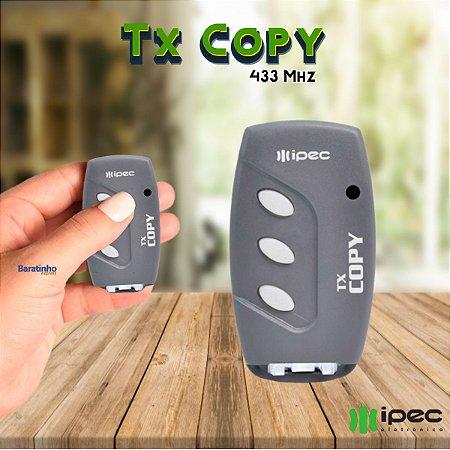 Controle Remoto Portão Alarme Tx Copy Clone 433 Mhz Ipec