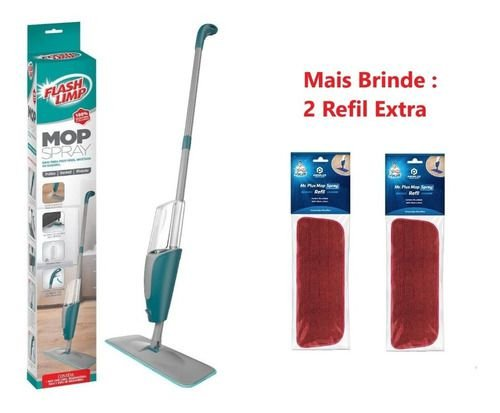 Spray Mop Flash Limp Com Reservatório + 2 Refil Extra