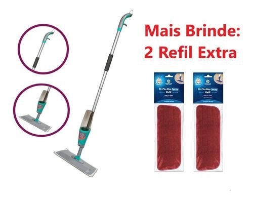 Spray Mop Mágico Noviça C/ Reservatório + 2 Refil Extra