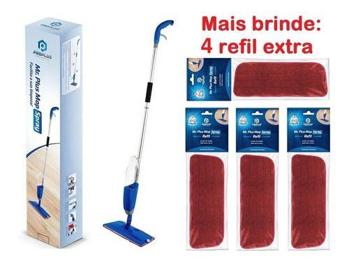 Mop Spray Mágico Mr. Plus Com Reservatorio + 4 Refil Extra