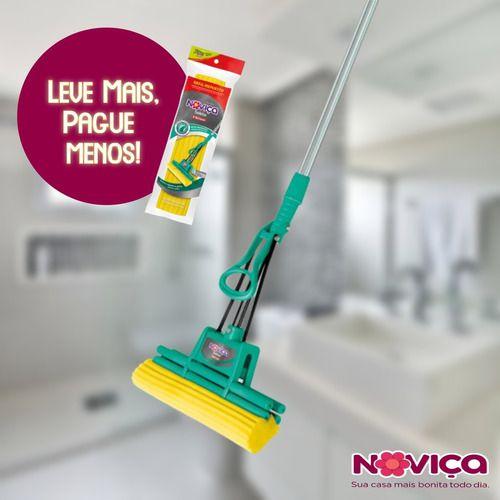 Mop Rodo Mágico Sekito Noviça C/ Cabo Bettanin + Refil Extra