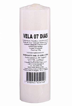Vela 7 Dias - BRANCA
