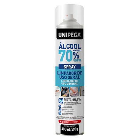 Álcool 70 Spray Lata 400ML- Unipega