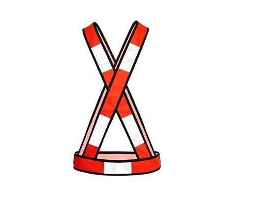 Colete Refletivo Tipo X Laranja Steelflex - Com Velcro NBR