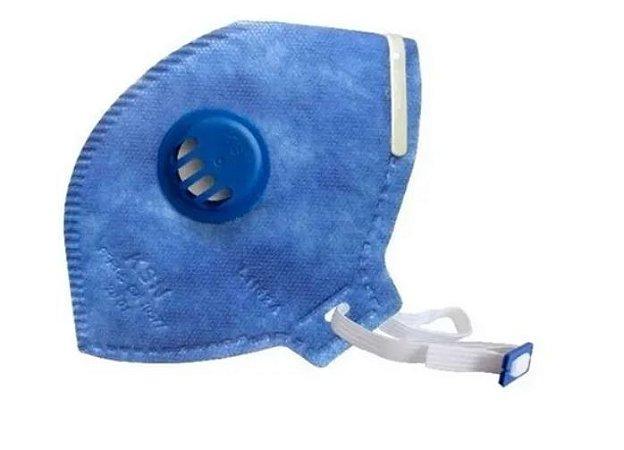 Máscara Descartável Pff-3 C/ Válvula Máxima Proteção - M.F.Q