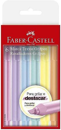 Marca Texto Grifpen Pastel 6 Cores Faber Castell