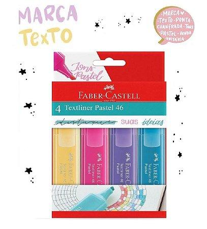Marca Texto Textliner 46 Pastel Faber Castell estojo com 4