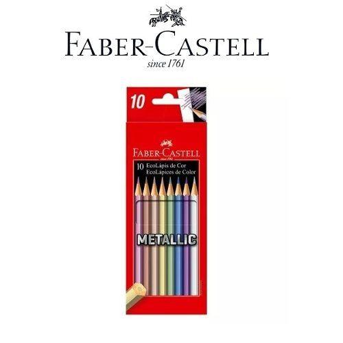 Lápis De Cor Metallic 10 Cores Faber-castell