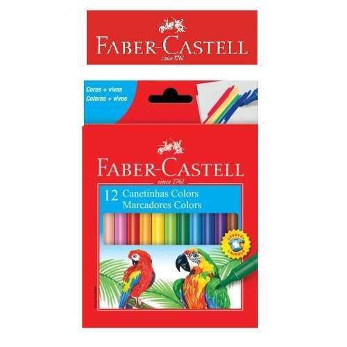 Canetinha Hidrocor 12 Cores Faber-castell