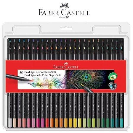Lápis de Cor Ecolápis Super Soft 50 Cores Faber Castell