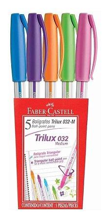 Caneta Trilux 032 Colors Estojo com 5 unidades