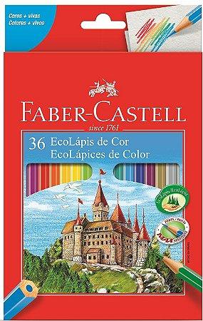 Lapis De Cor Ecolapis 36 Cores Faber Castell
