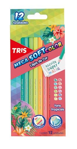 Lápis de Cor Tris Mega Tropic 12 Cores