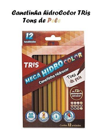 Canetinha Hidrocor c/12 Tons de pele - Tris