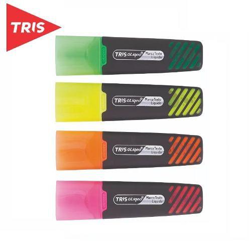 Kit Com 4 Marcadores Tris Liqeo Neon