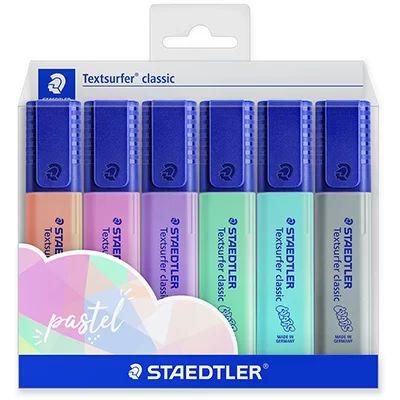 Marcador Textsurfer Estojo c/6 Cores Novas Pastel  Staedtler