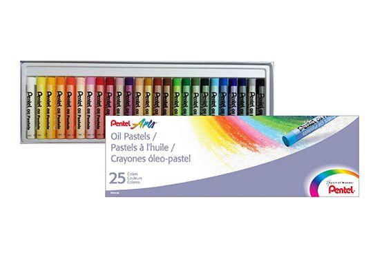 Giz Pastel Oleoso Pentel 25 Cores PHN-25