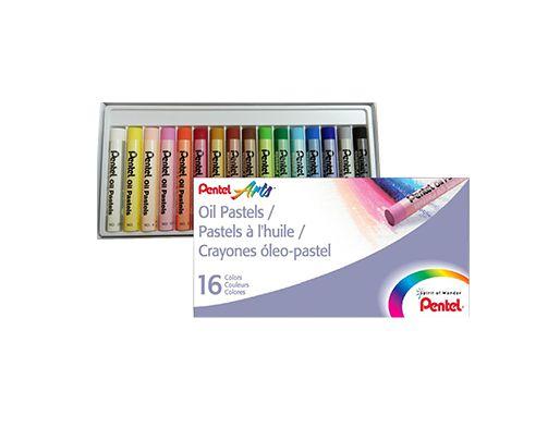 Giz Pastel Oleoso Pentel 16 Cores PHN-16