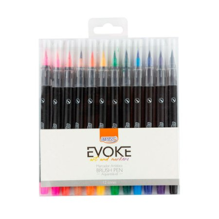 Marcador Brush Pen - Blister c/12 cores - BRW