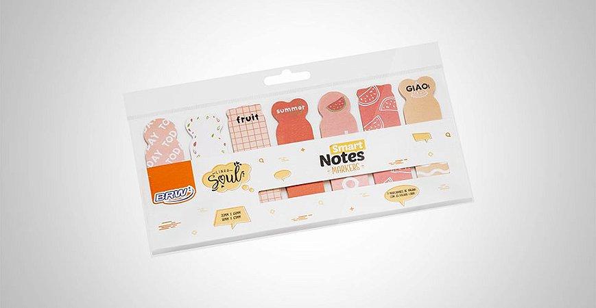 Bloco Smart Notes Marca Páginas Frutas  BRW