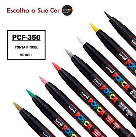 Caneta Posca PCF-350 Ponta de Fibra Brush (Pincel) a Escolha
