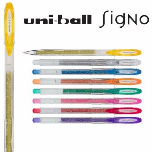 Caneta Gel Uniball Signo Sparkling Glitter
