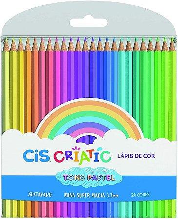 Lapis De Cor Cores Pasteis 24 Cores Cis Criatic