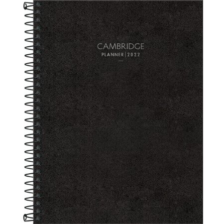 Agenda Espiral Planner  Preta CAMBRIDGE M7 - Tilibra
