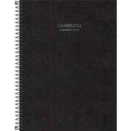 Agenda Espiral Planner Preta CAMBRIDGE M9 - Tilibra