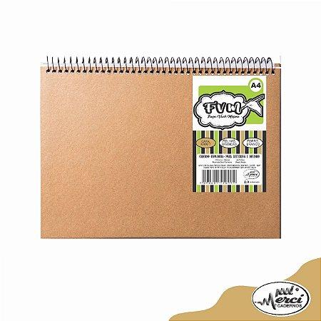 Caderno CD F.V.M Kraft c/ Folhas Brancas 40Fls - Merci