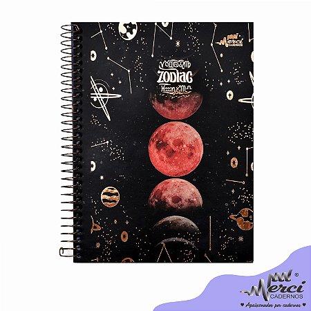 Caderno Esp. Colegial 1 matéria 80 Fls Zodiac Merci Capa 01