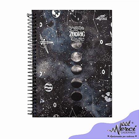 Caderno Esp. Colegial 1 matéria 80 Fls Zodiac Merci Capa 02