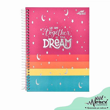 Caderno Esp. Colegial 1 matéria 80 Fls Dream Merci Capa 02