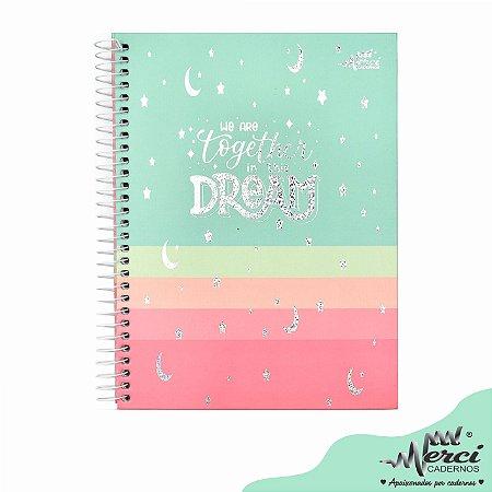 Caderno Esp. Colegial 1 matéria 80 Fls Dream Merci Capa 03