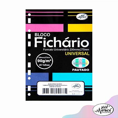 Refil Folha P/ Fichário Pautado Tom Pastel 90g Pct c/40 Fls