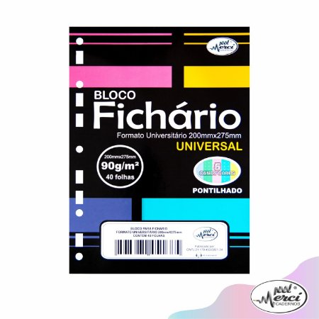 Refil Folha P/ Fichário Pontilhado Tom Pastel 90g Pct c/ 40F
