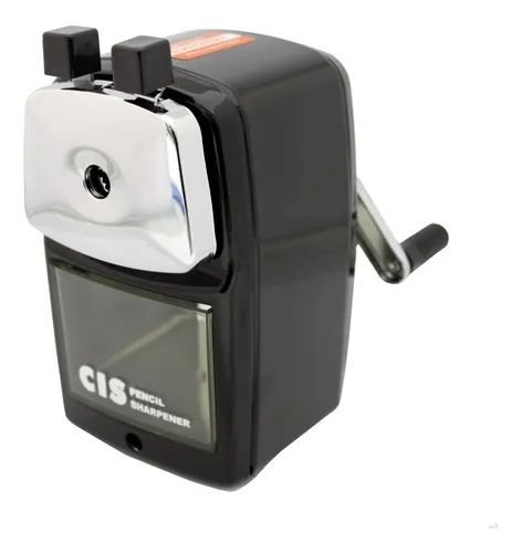 Apontador De Mesa Mecânico Com Manivela E Deposito Pr-03 Cis