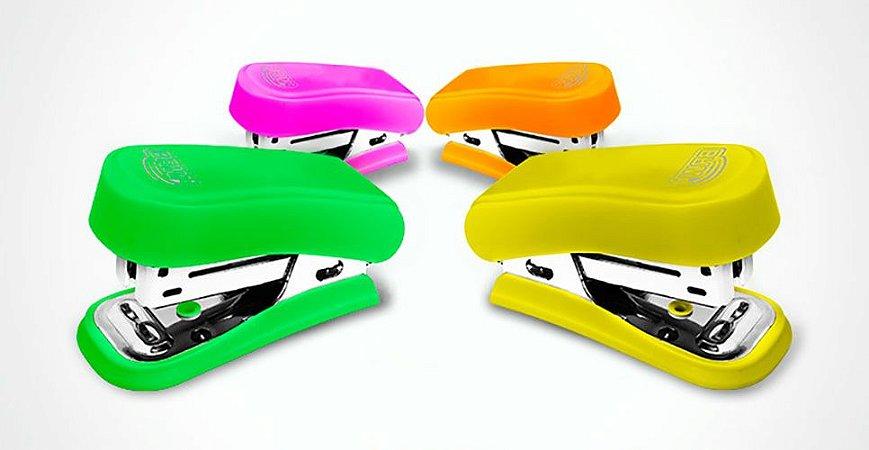 Mini Grampeador Neon GP0102 Para 20 Folhas - BRW