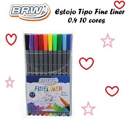 Canetinha Hidrog Tipo Fine Liner C/10 0,4mm Fl0001 - BRW