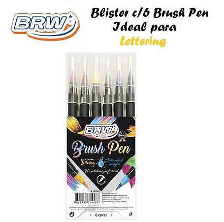 Marcador Brush Pen - Blister c/6 cores - BRW