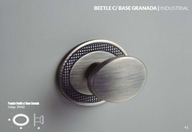Puxador Zen Beetle (base granada/ sem base)