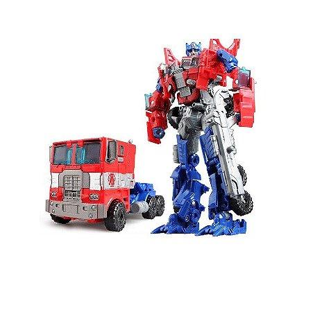 Boneco Transformers Optimus Prime Arma Cinza Tradicional Jinjiang 18cm