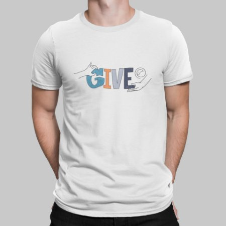 Camiseta Masculina - Give